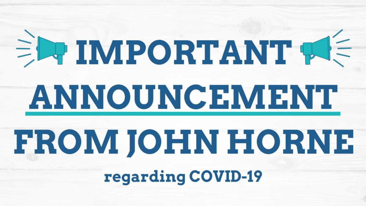 John Horne Announcement