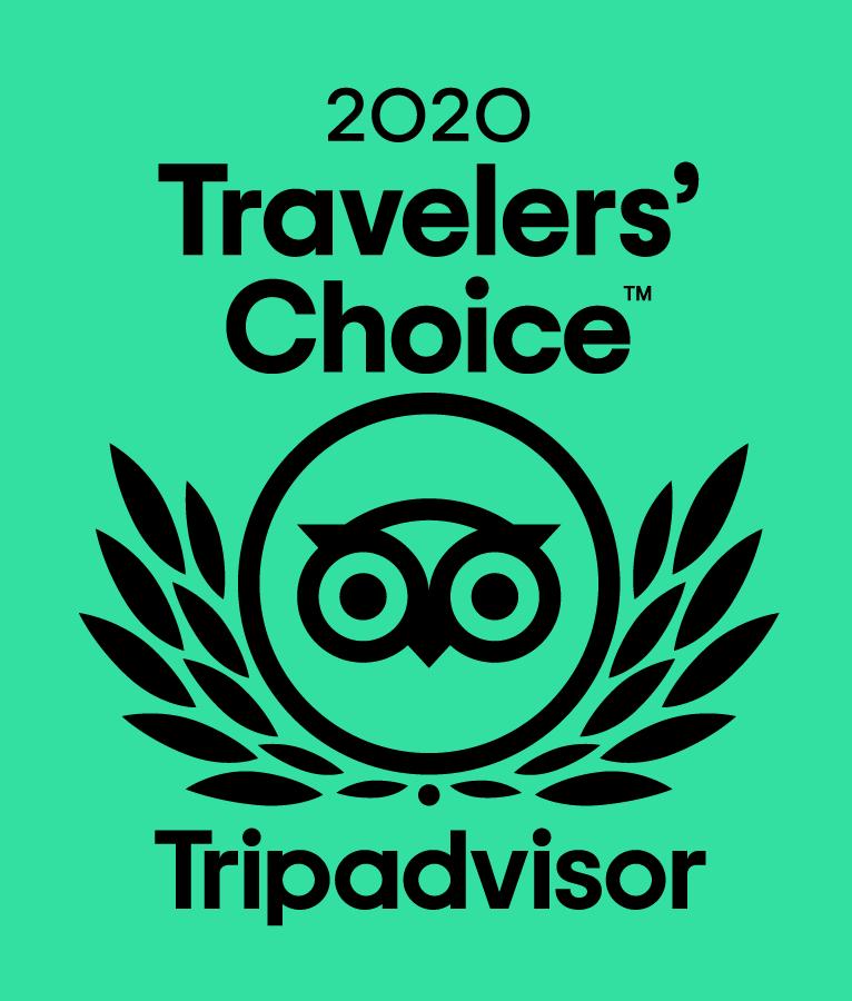 2020 TRIPADVISOR TRAVELERS' CHOICE BEST OF THE BEST AWARD