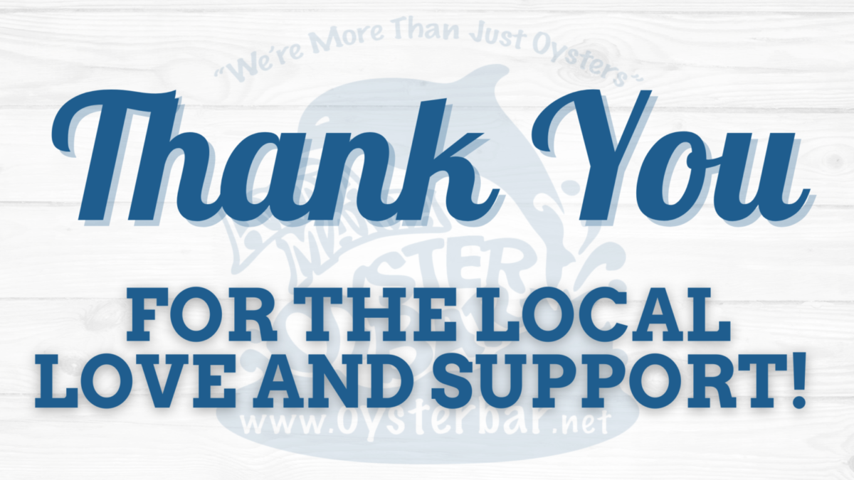 Thank you for the local love and support!